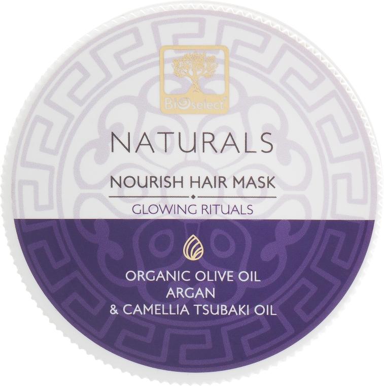 """Питательная маска для волос с аргановым маслом """"Реконструкция. Сияющий ритуал"""" - BIOselect Naturals Hair Mask"""