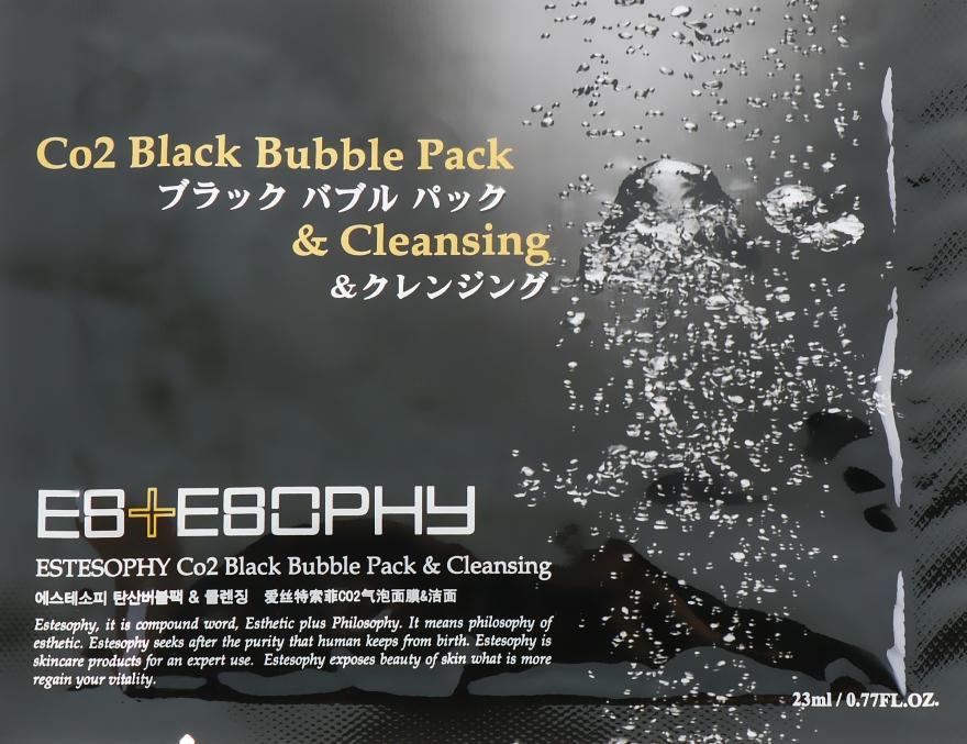 Маска для карбокситерапии лица - Estesophy Co2 Black Bubble Pack & Cleansing