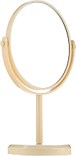 Духи, Парфюмерия, косметика Зеркало на подставке овальное 85710, желтое - Top Choice Beauty Collection Mirror