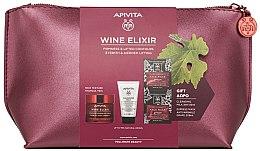Духи, Парфюмерия, косметика Набор - Apivita Wine Elixir Rich Texture (cream/50ml + milk/50ml + mask/2x8ml)