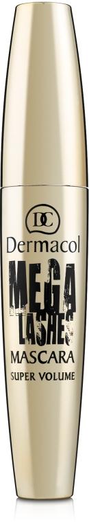 Тушь для суперобъема с панорамным эффектом - Dermacol Mega Lashes Mascara