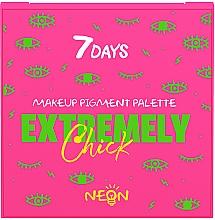 Духи, Парфюмерия, косметика Палетка пигментов для макияжа - 7 Days Extremely Chick UVglow Neon Makeup Pigment Palette