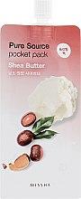 Духи, Парфюмерия, косметика Маска для лица на основе масла ши - Missha Pure Source Pocket Pack Shea Butter