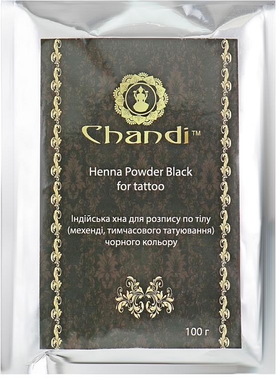 Черная хна для тату (менди) - Chandi