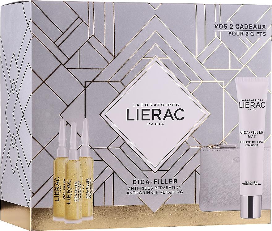 Набор - Lierac Cica-Filler (serum/30ml + cr/gel/40ml + bag)