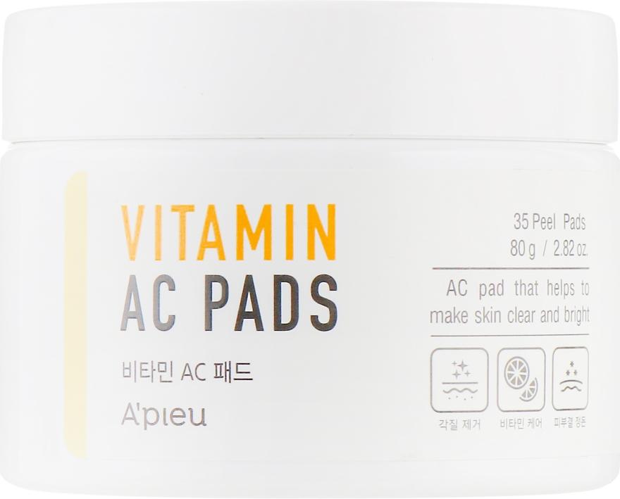 Пилинг-диски для очищения кожи лица - A'pieu Vitamin AC Pad