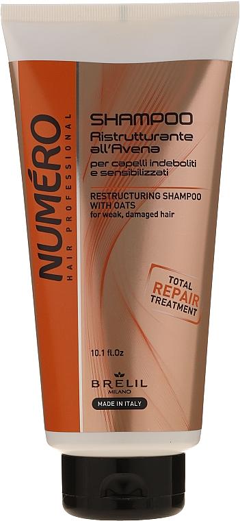 Шампунь восстанавливающий - Brelil Numero Brelil Numero Restructuring Shampoo with Oats