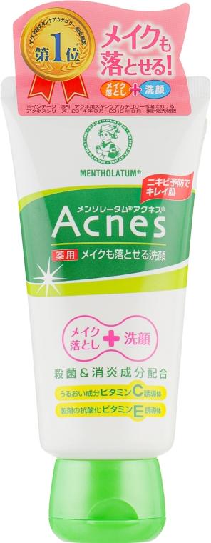 Лечебный крем-гель для умывания - Mentholatum Acnes Medicated Makeup Remover