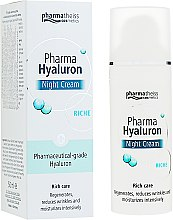 Духи, Парфюмерия, косметика Крем ночной для лица - Pharma Hyaluron Pharmatheiss Cosmetics Nigth Cream Riche