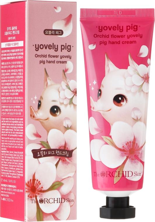 Крем для рук увлажняющий - The Orchid Skin Orchid Flower Yovely Pig Hand Cream