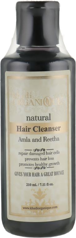 "Натуральный травяной аюрведический шампунь ""Амла и ритха"" - Khadi Organique Hair Cleanser Amla & Reetha"