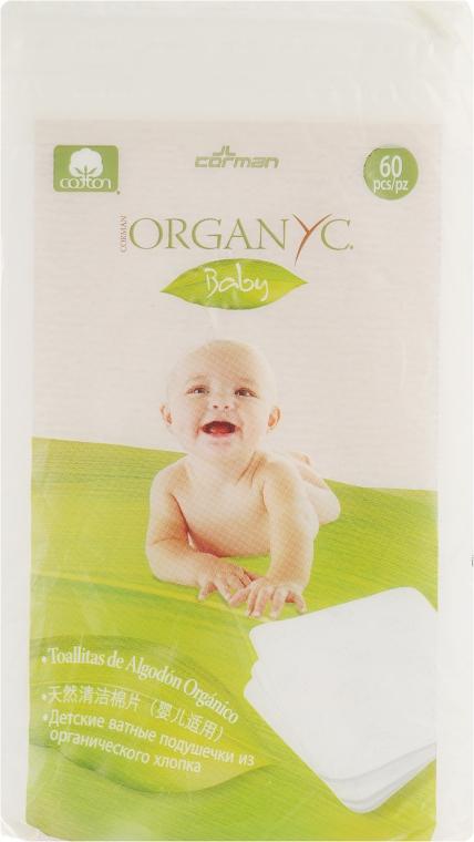 Детские ватные подушечки 60 шт - Corman Organyc Sweet Caress Baby Cotton Nursing Pads