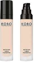Духи, Парфюмерия, косметика Тональный крем для лица - Kobo Professional Mattifyng Liquid Foundation