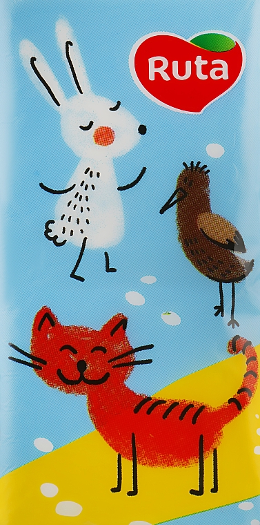 "Носовые платки ""Детские"" 10 шт., кот - Ruta Family Pack"