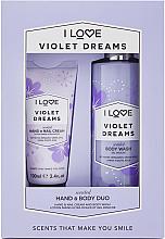 Духи, Парфюмерия, косметика Набор - I Love Signature Hand & Body Duo Violet Dreams (h/cr/100ml + b/wash/360ml)