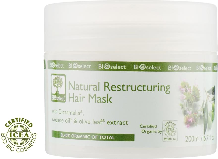 Маска для волос восстанавливающая с диктамелией и маслами авокадо и оливы - BIOselect Natural Restructuring Hair Mask
