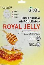 """Духи, Парфюмерия, косметика Тканевая маска """"Маточное молочко"""" - Ekel Super Natural Ampoule Royal Jelly"""