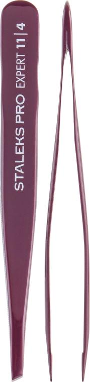 Пинцет для бровей, TE-11/4 - Staleks Pro