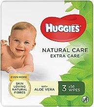 Духи, Парфюмерия, косметика Детские влажные салфетки Natural Care Extra Care 2+1, 3x56 шт - Huggies