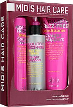 "Духи, Парфюмерия, косметика Набор ""Поддержка гладкости"" - Mades Cosmetics Frizz-Free (sham/250ml + cond/250ml + spray/200ml)"
