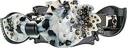 "Духи, Парфюмерия, косметика Заколка-автомат для волос ""Бантик"", 1196, черно-белая - Элита"
