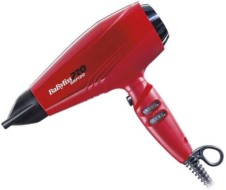 Фен для волос - BaByliss PRO 7000IRE Rapido Ionic Red