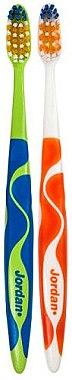 Зубная щетка средняя Advanced, зеленая+оранжевая - Jordan Advanced Medium