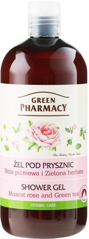 """Гель для душа """"Мускатная роза и Зеленый чай"""" - Зеленая Аптека"""