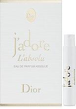 Духи, Парфюмерия, косметика Christian Dior JAdore LAbsolu - Парфюмированная вода (пробник)
