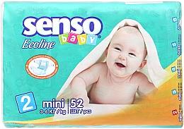 Духи, Парфюмерия, косметика Подгузники Senso Baby Ecoline Mini 2 (3-6 кг) 52 шт - Senso Baby