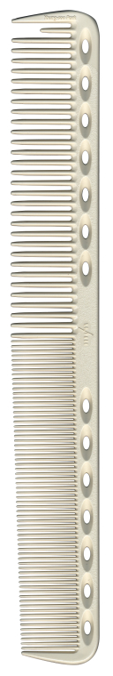 Расческа для стрижки с плоскими зубцами, 180мм, белая - Y.S.Park Professional 339 Cutting Combs White