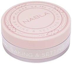 Духи, Парфюмерия, косметика Рассыпчатая пудра для лица - Nabla Close-Up Baking Setting Powder
