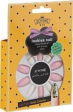 Духи, Парфюмерия, косметика Набор искусственных ногтей, белый с розовым - Donegal Express Your Beauty