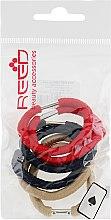 Духи, Парфюмерия, косметика Набор резинок для волос, 7575, 6 шт., бежевый + красный + темно-синий - Reed
