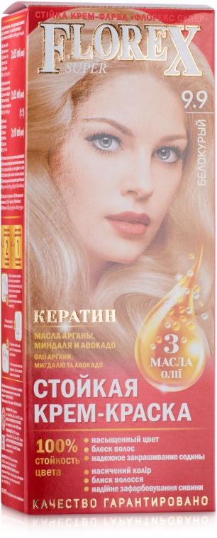 Стойкая крем-краска для волос - Supermash Florex Super