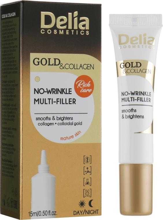 Мульти-филлер против морщин - Delia Gold&Collagen No-Wrinkle Multi-Filler