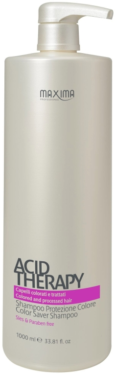 Защитный шампунь с витаминами для окрашенных волос - Maxima Acid Therapy Color Saver Shampoo