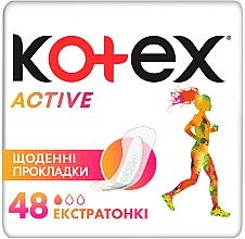 Духи, Парфюмерия, косметика Супертонкие ежедневные прокладки, 48шт - Kotex Active
