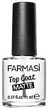 Духи, Парфюмерия, косметика Матовый топ для ногтей - Farmasi Top Coat Matte