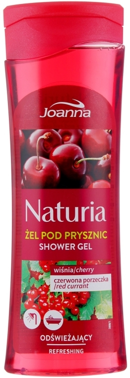 "Гель для душа ""Вишня и смородина"" - Joanna Naturia Cherry and Red Currant Shower Gel"