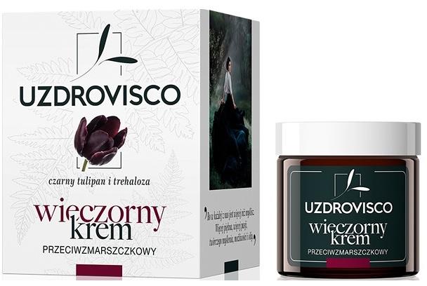 Ночной крем для лица против морщин - Uzdrovisco Black Tulip i Trehaloza Anti-wrinkle Night Cream