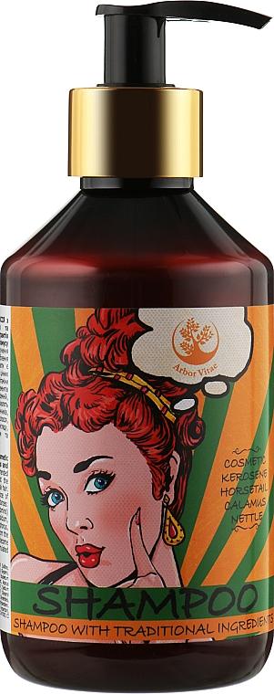 Шампунь для волос с нефтью косметической и добавлением экстрактов крапивы, хвоща и Каламуса - Arbor Vitae