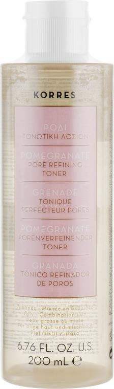 Тонизирующий лосьон с гранатом для жирной и комбинированной кожи - Korres Pomegranate Tonic Lotion