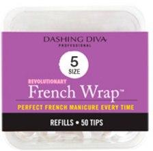"Духи, Парфюмерия, косметика Типсы узкие ""Френч Смайл"" - Dashing Diva French Wrap White 50 Tips (Size-5)"