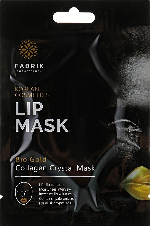 Гидрогелевая маска-патч для губ и области вокруг губ с био-золотом - Fabrik Cosmetology Bio Gold Lip Mask