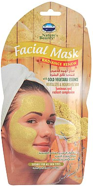 Восстанавливающая маска-пленка с экстрактом овощей - Nature's Bounty Facial Mask Gold Vegetable Essence