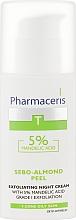 Ночной крем-пилинг с 5% миндальной кислотой - Pharmaceris T Sebo-Almond-Peel Exfoliting Night Cream — фото N2