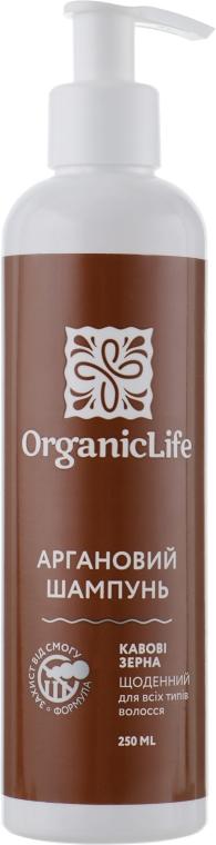 """Аргановый шампунь """"Зерна Кофе"""" для всех типов волос - Organic Life Coffee Grains"""