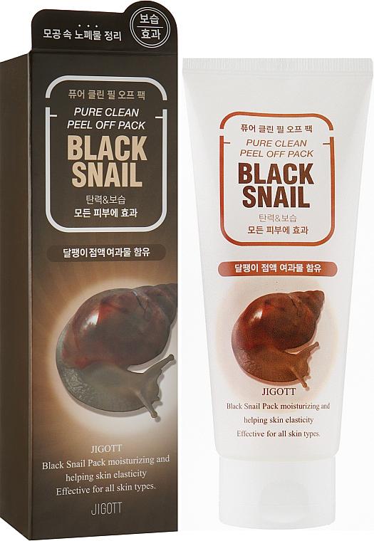 Очищающая маска-пленка с экстрактом слизи черной улитки - Jigott Black Snail Pure Clean Peel Off Pack