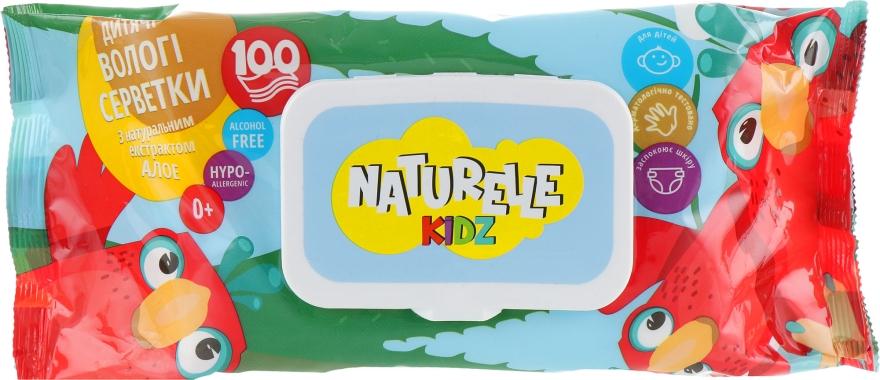"""Детские салфетки влажные """"Алоэ вера"""", 100шт - Naturelle Kidz"""